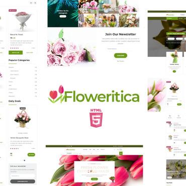 Template Flori HTML, JS şi CSS #110978