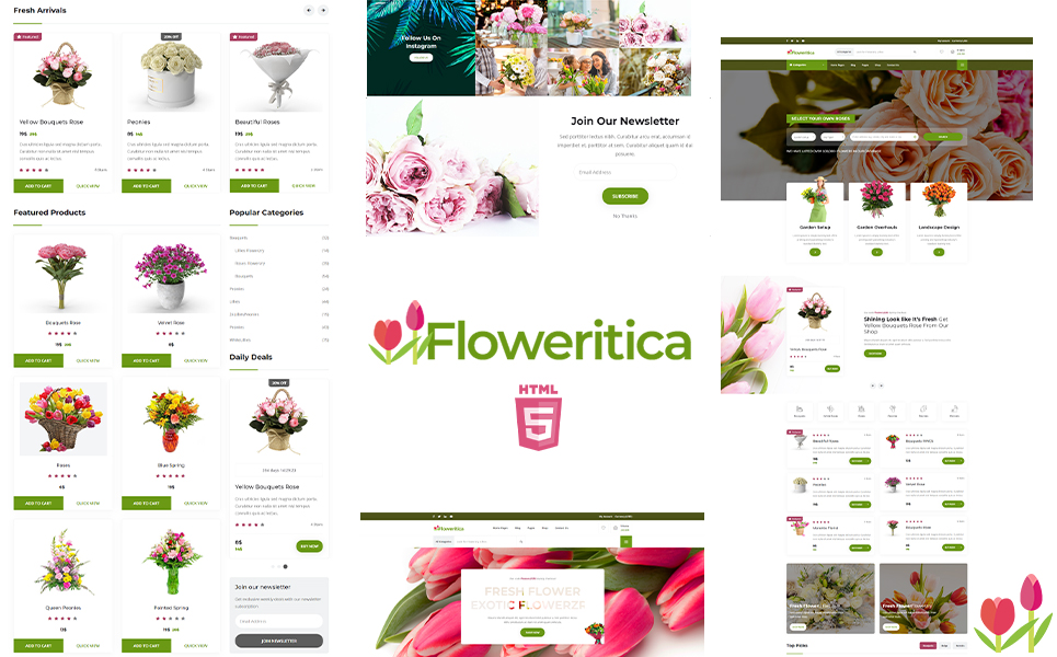 Floristica | Flowers and Roses Shop Website Template