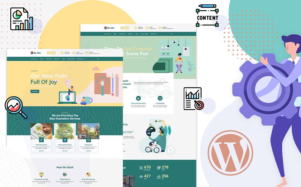 Illustria | Multipurpose Illustration portfolio WordPress Theme