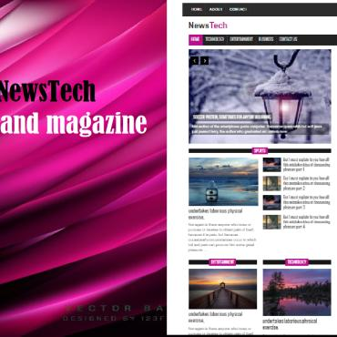 Template Mass-Media Magazine Templates #111020