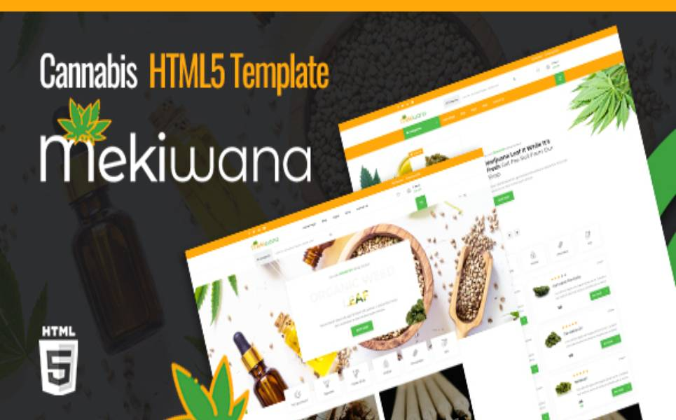 Mekiwana - Medical Cannabis HTML5 Website Template
