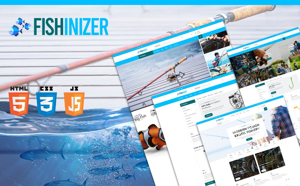 Fishinizer | Fishing and Marine Accessories HTML5 Website Template