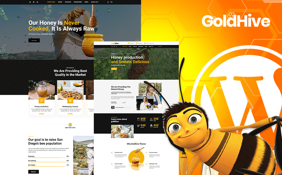 Goldhive |  Honey Farm and Production WordPress Theme