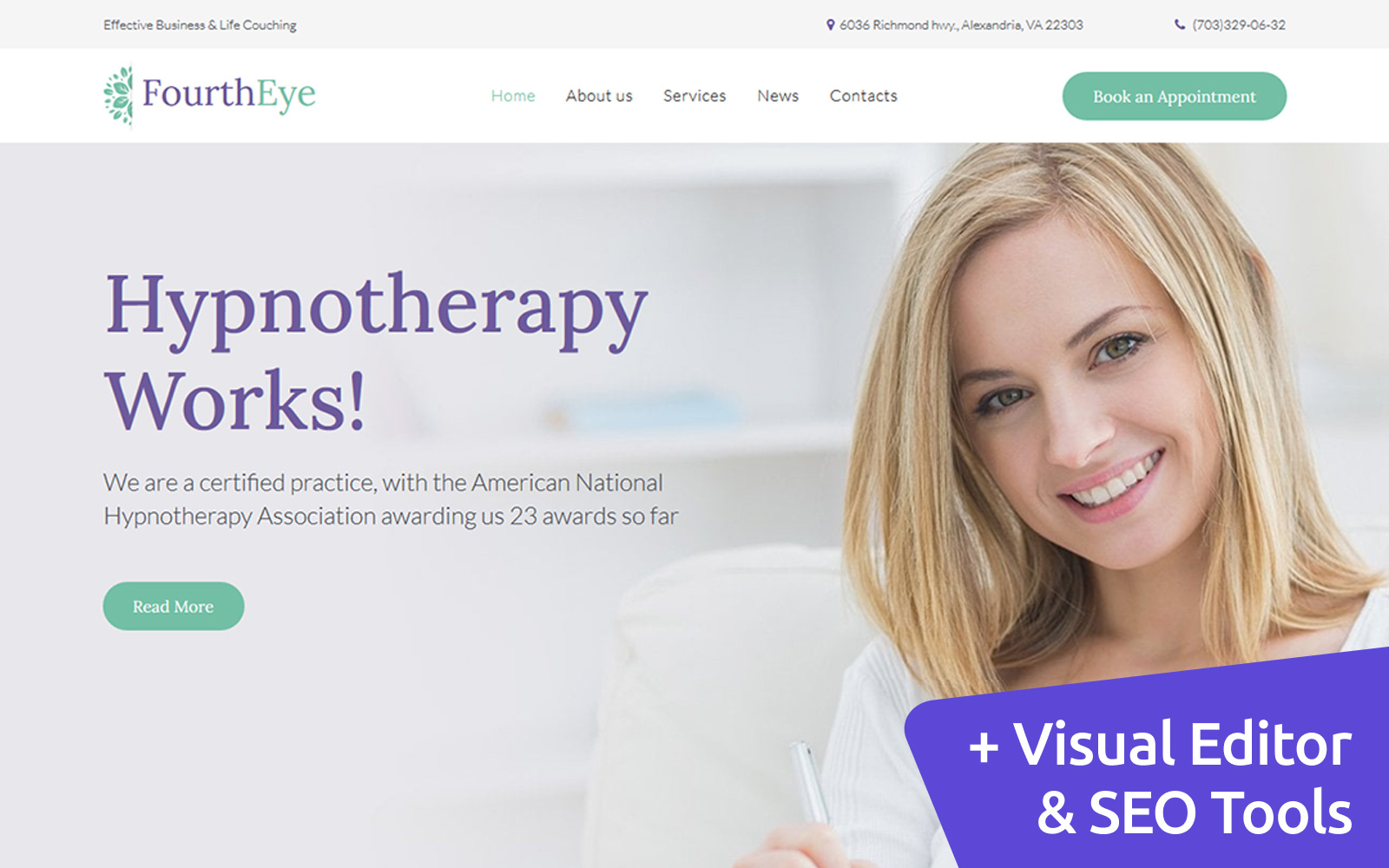 FourthEye - Therapy Services Moto CMS 3 Template