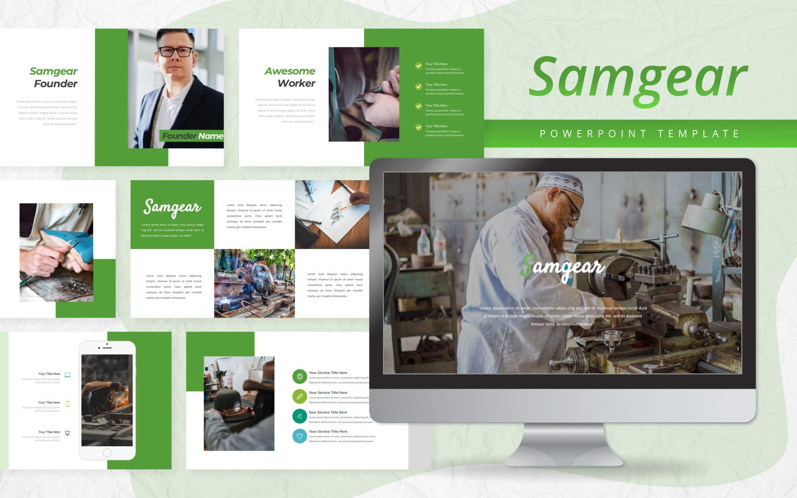 Samgear - Business PowerPoint Template