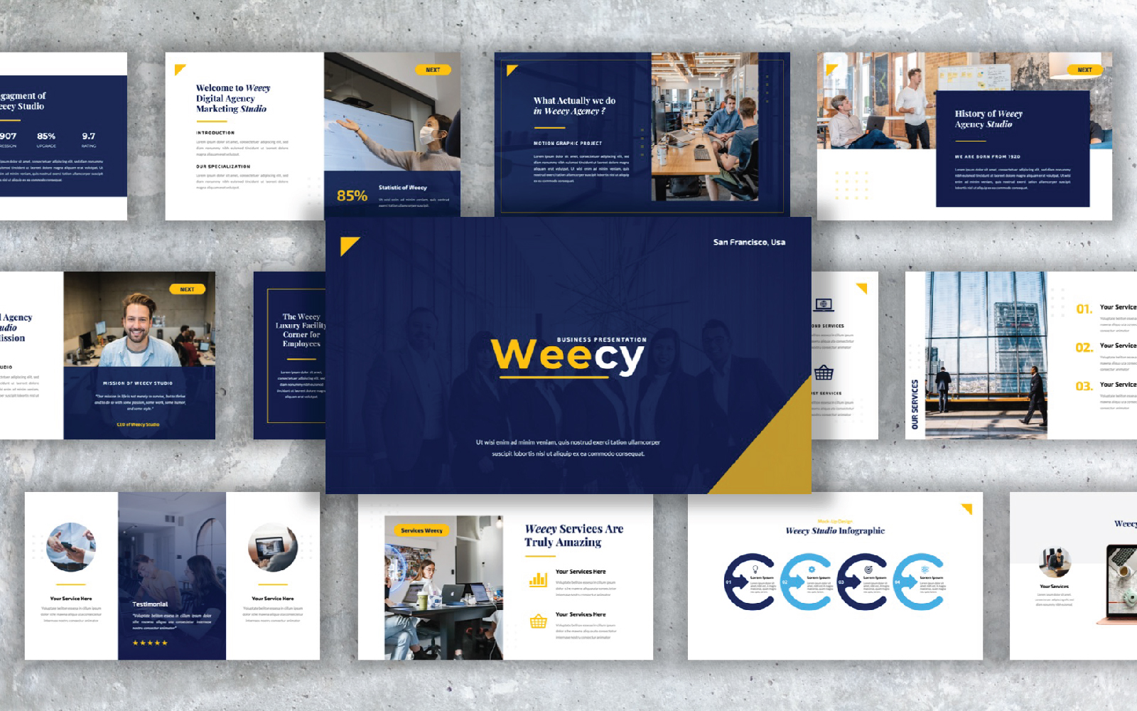 Weecy - Business Presentation PowerPoint Template
