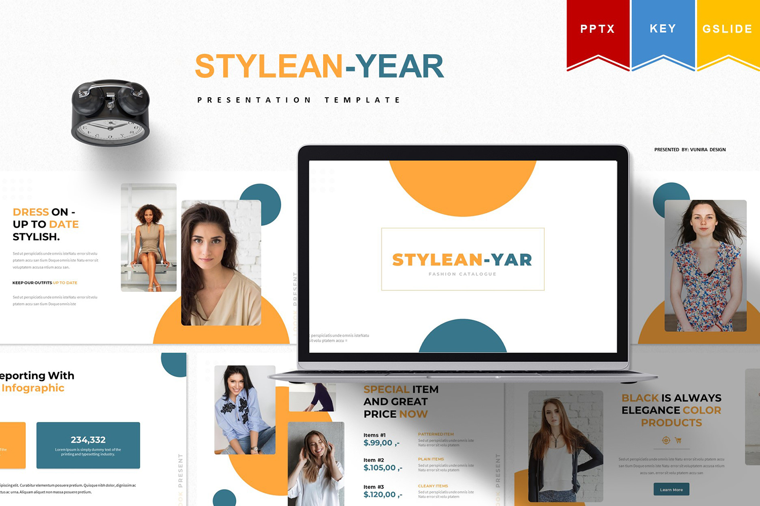 Stylean - year   PowerPoint Template