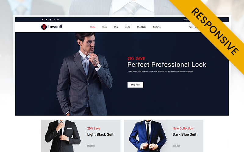 Lawsuits - Suits & Blazers Store WooCommerce Theme