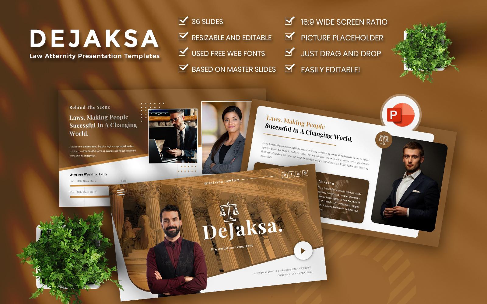 Dejaksa-Law Atternity Business PowerPoint Template
