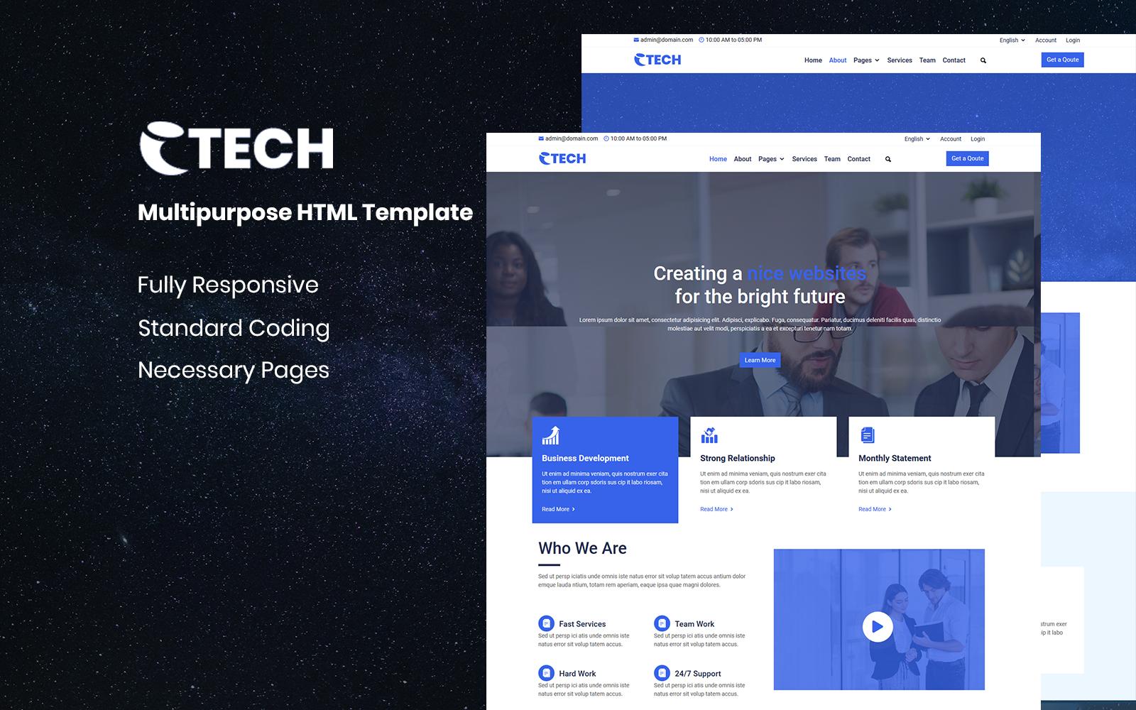 eTech - Multipurpose HTML Website Template