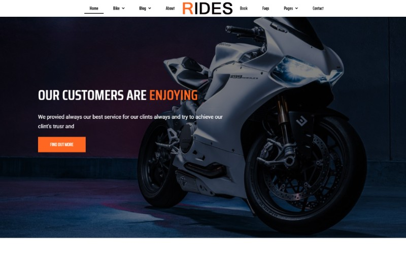Bike Rental Booking Website Template