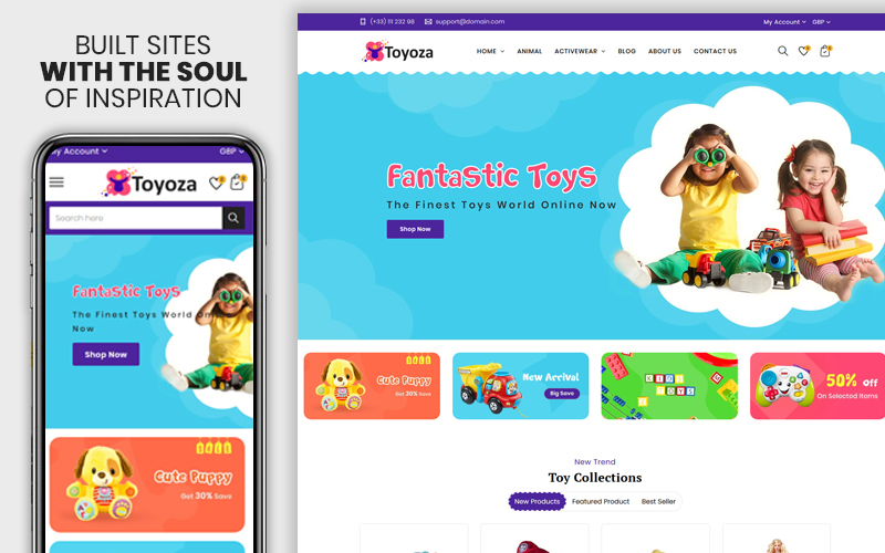 Toyoza - The Kids toys store Shopify Theme