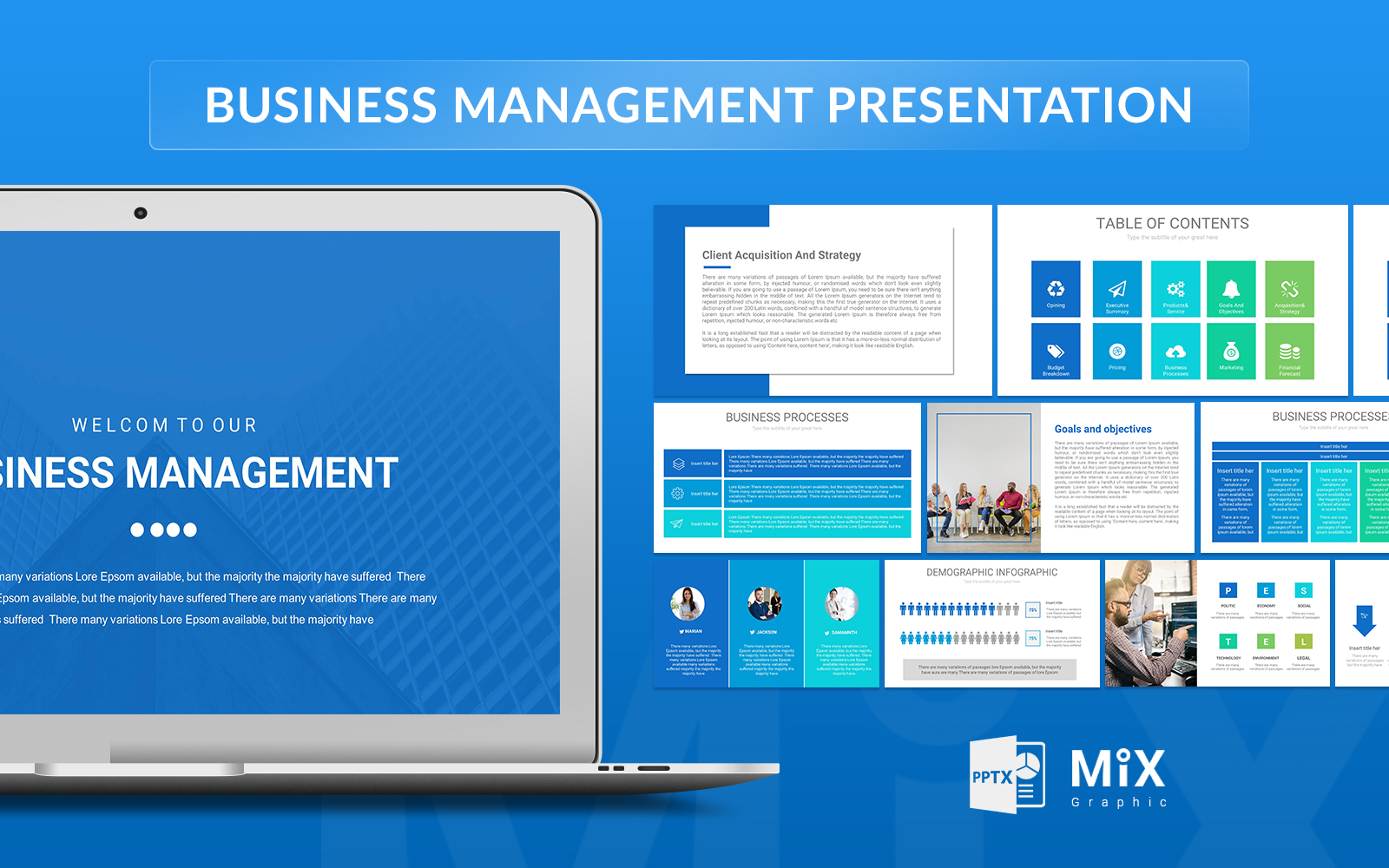 Business Management Presentation PowerPoint Template