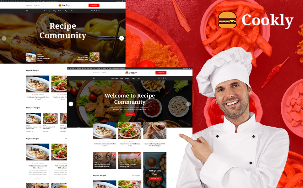 Cookly - Food and Recipe WordPress Theme