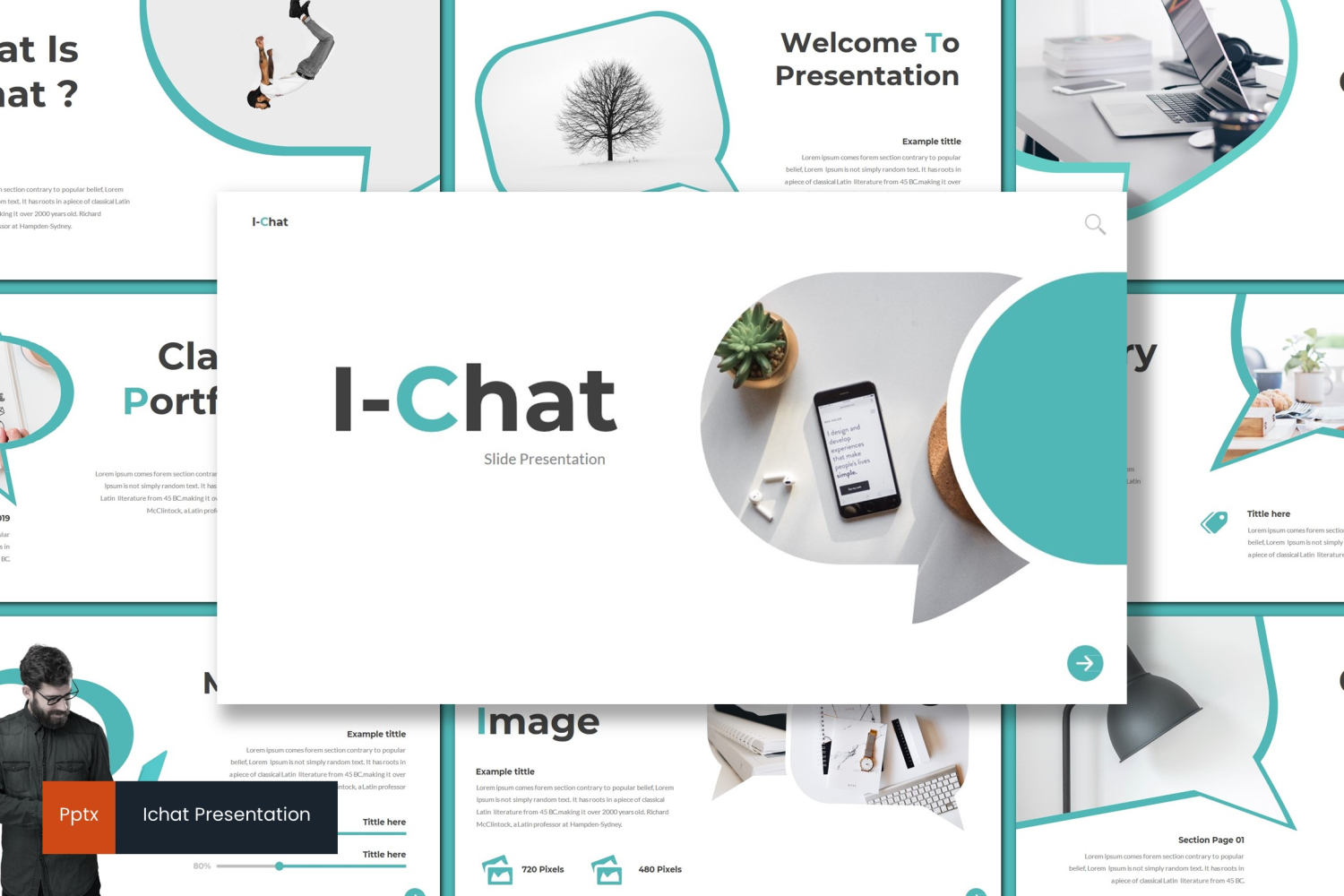 I-Chat PowerPoint Template