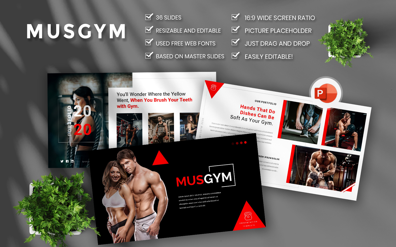 Musgym – Creative & Business PowerPoint Template