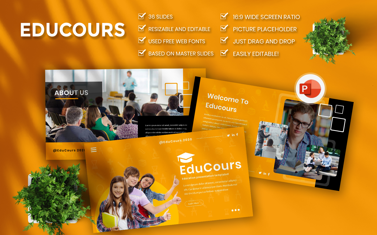 Educourse Business PowerPoint Template