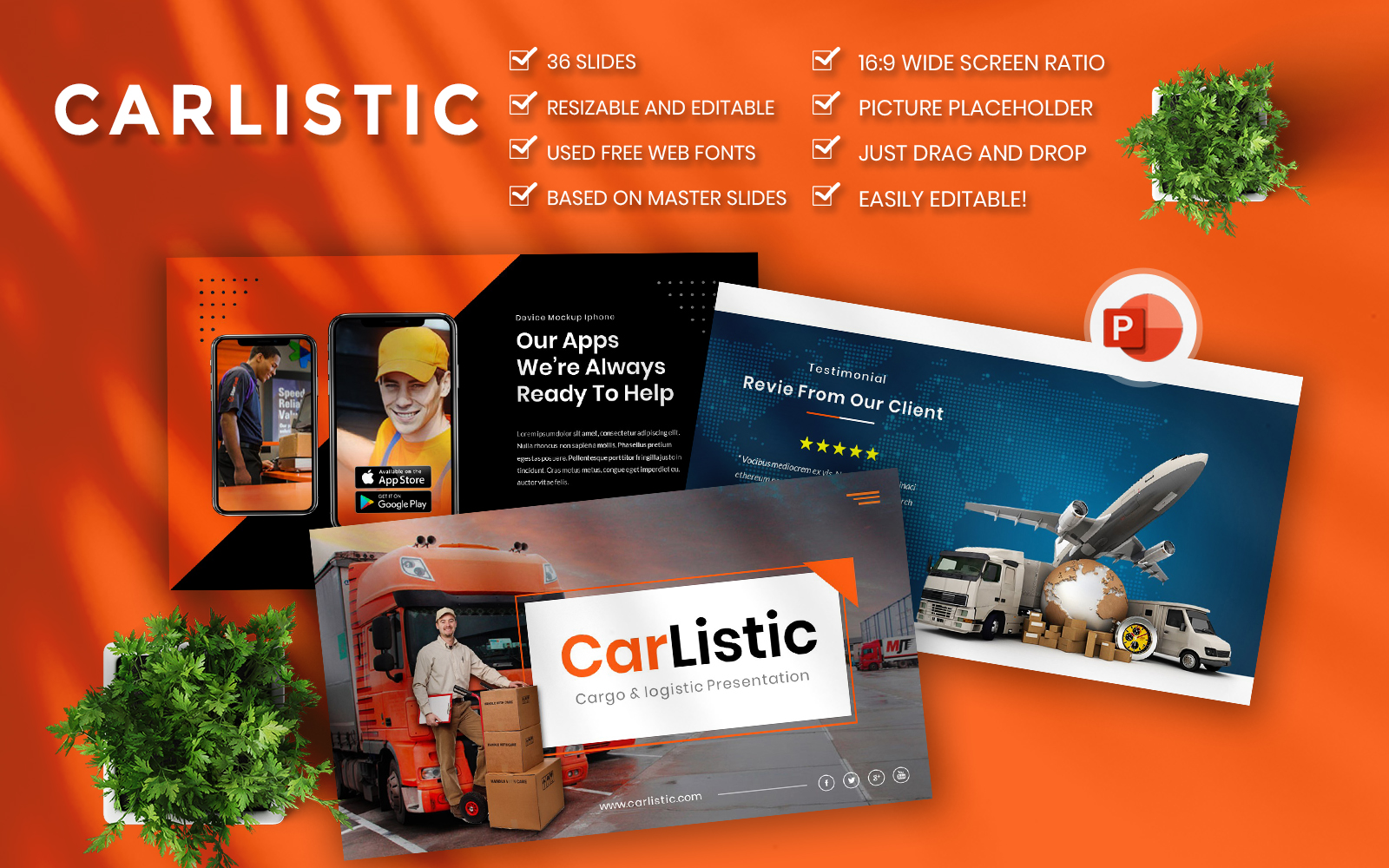 Carlistic - Cargo and Logistic Business PowerPoint Template