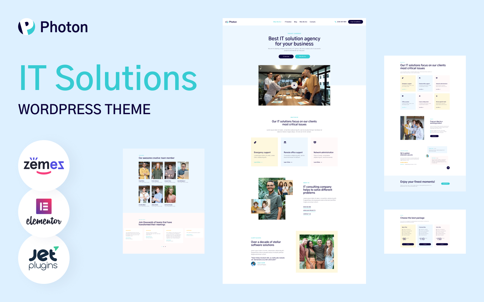 Photon - IT Solutions WordPress Theme