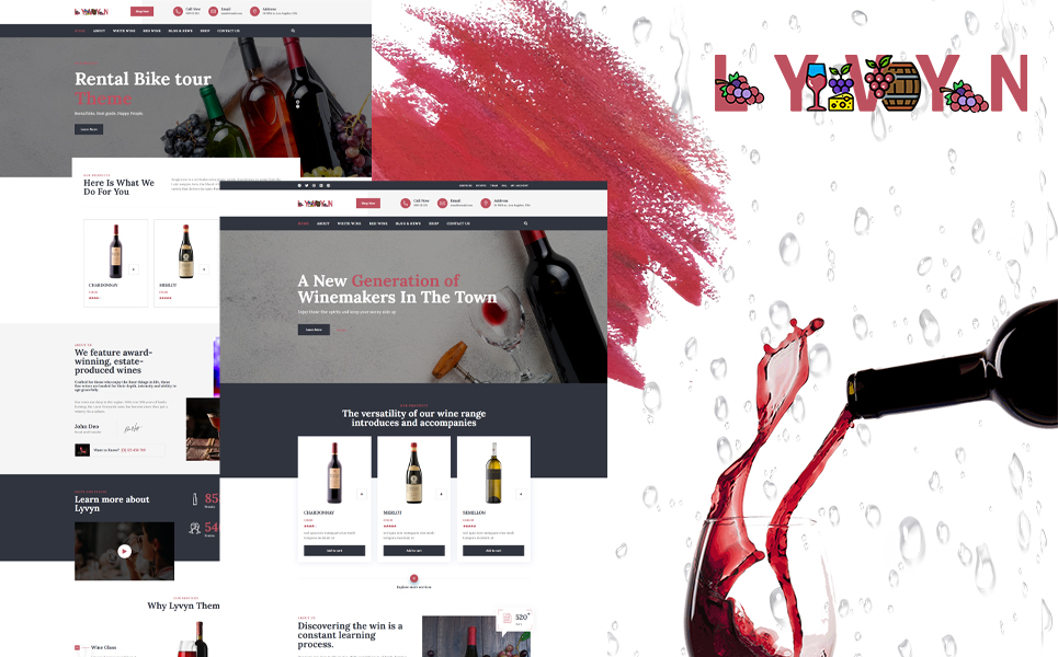 Lyvyn - Wine Shop WordPress Theme