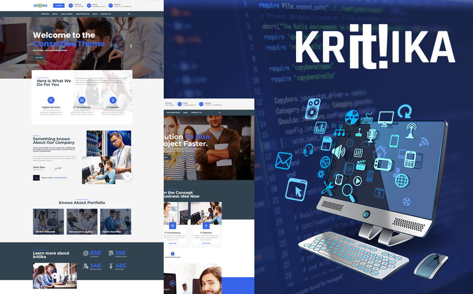 Kritika - IT Solution WordPress Theme