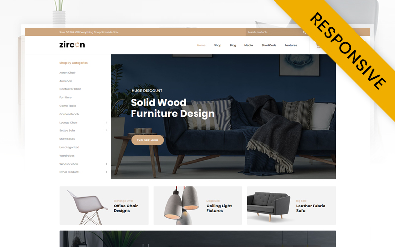 Zircon - Furniture Store WooCommerce Theme