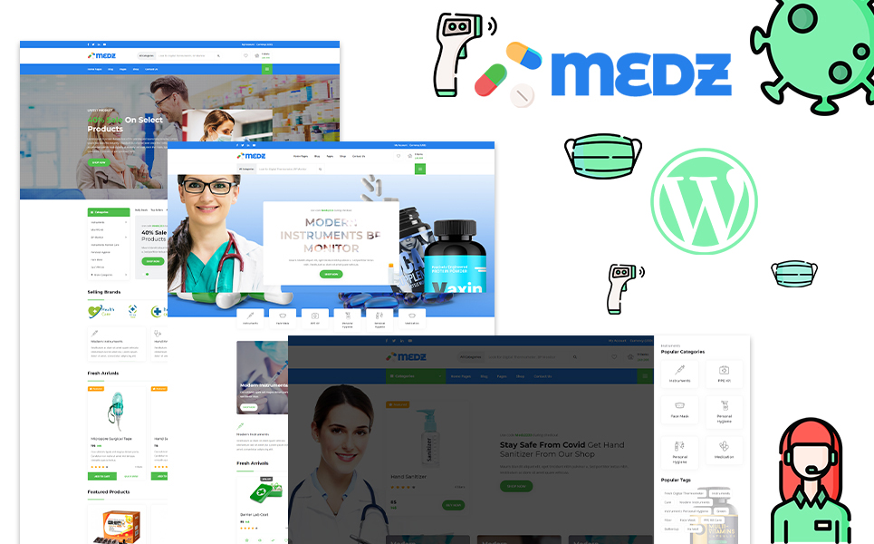 Medz - Medical Shop and Medical Equipment WordPress Theme