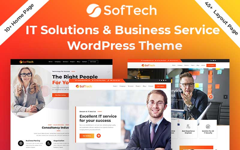 Softech - IT Solution & Business Service WordPress Theme