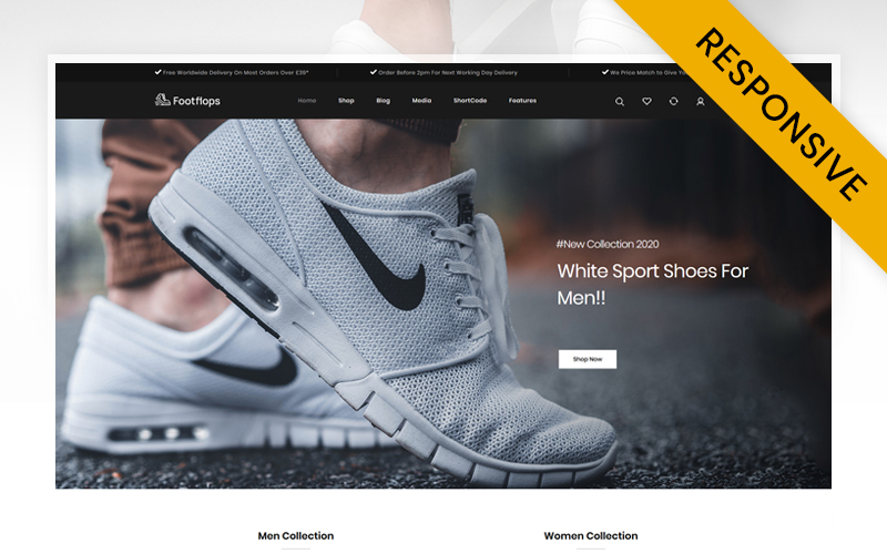 Footflops - Online Shoes Store WooCommerce Theme