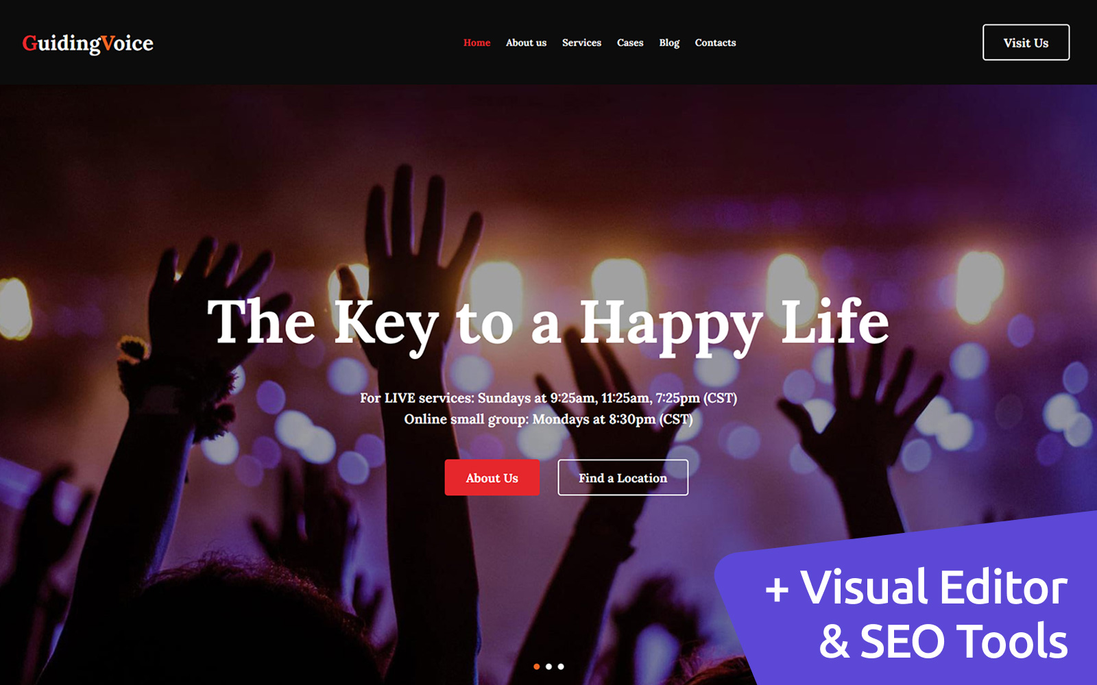 Guiding Voice - Life Coach Moto CMS 3 Template