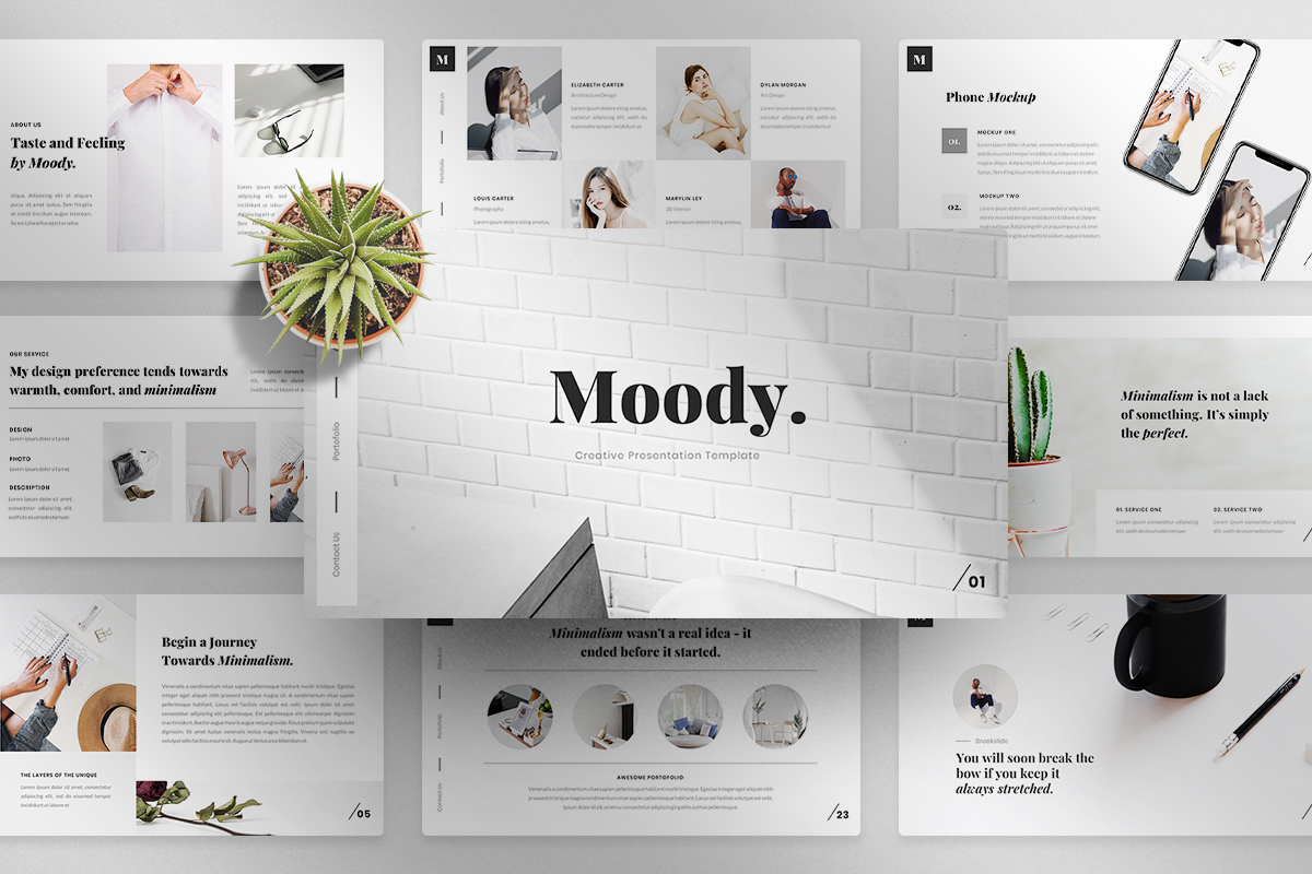 Moody- PowerPoint Template