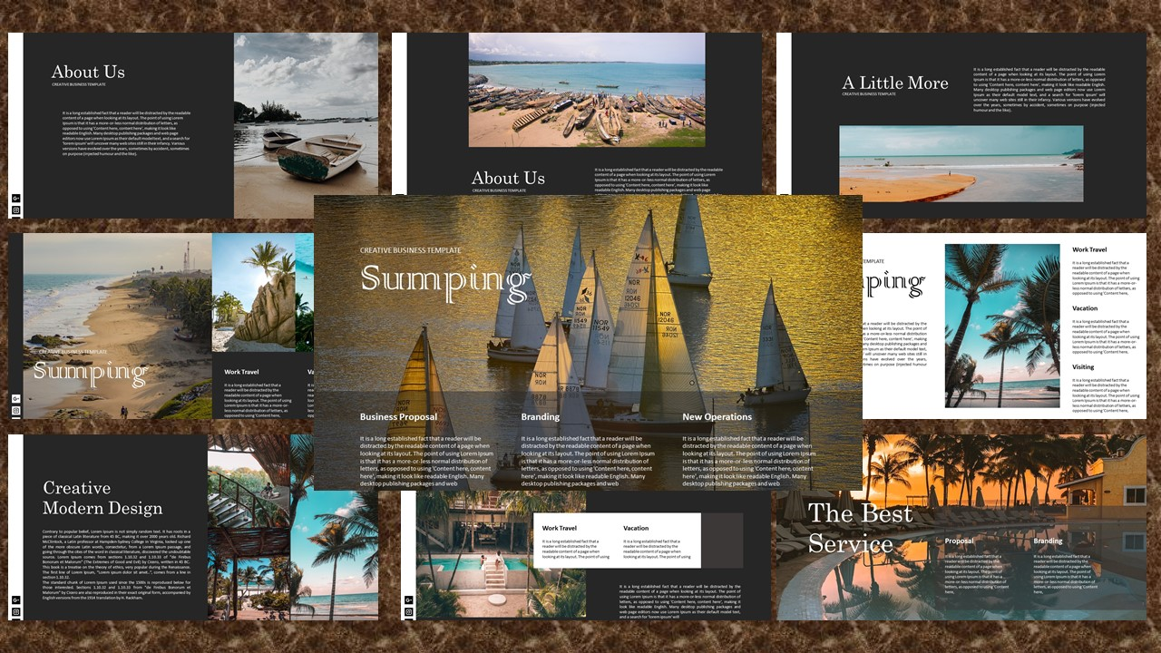 Sumping – Creative Business PowerPoint Template