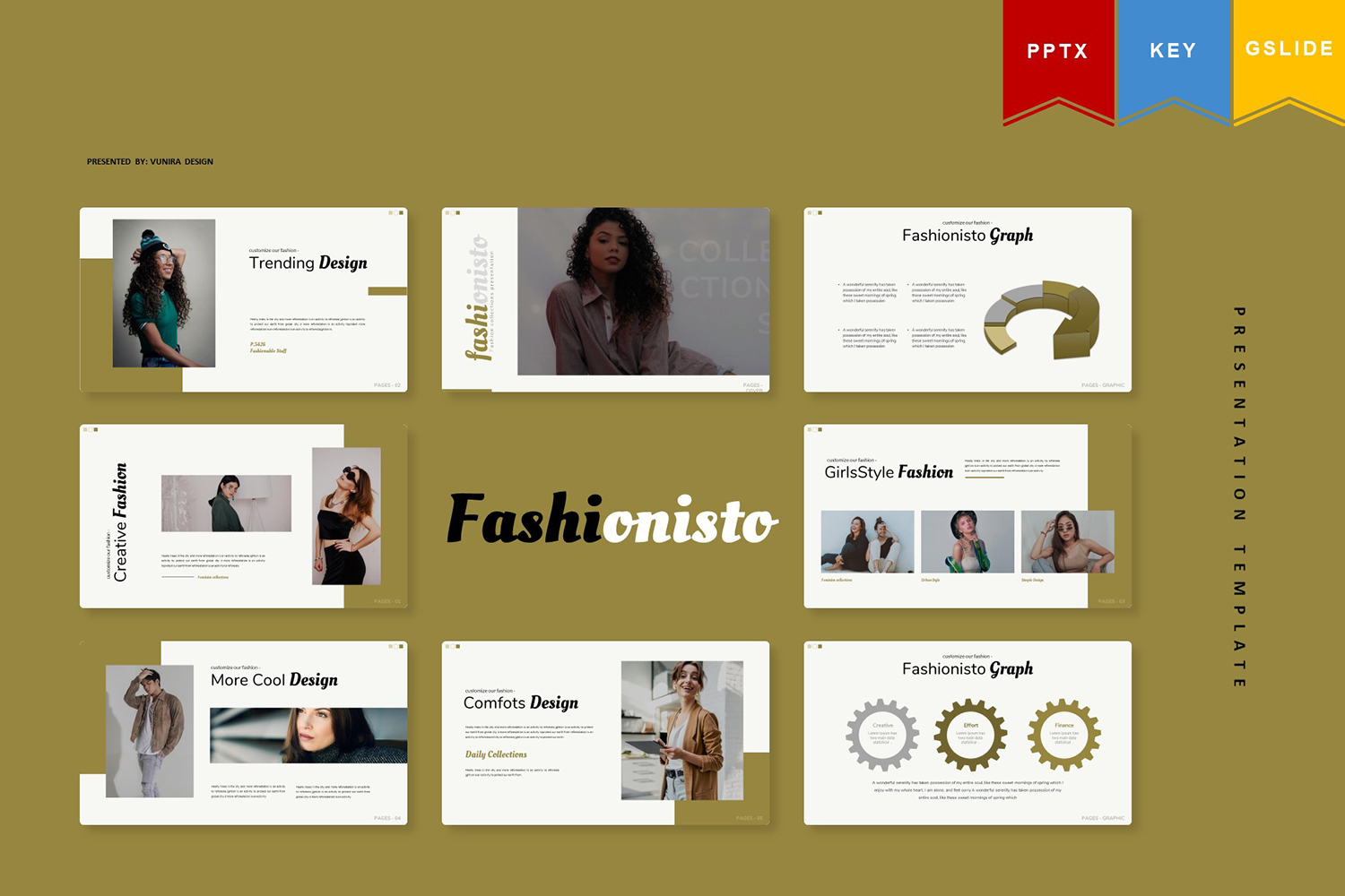 Fashionisto | Keynote, Googleslide PowerPoint Template