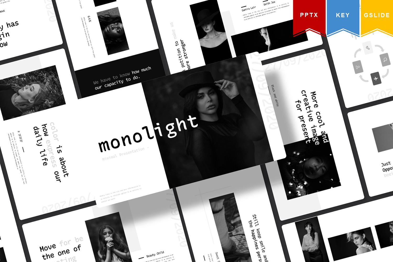 Monolight | Keynote, Googleslide PowerPoint Template