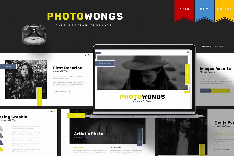 Photowongs   Keynote, Googleslide PowerPoint Template