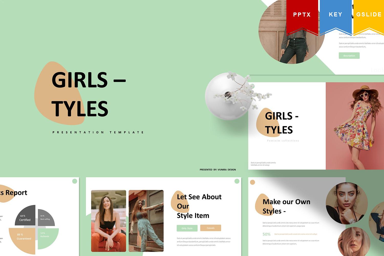 Girl Tyles | Keynote, Googleslide PowerPoint Template