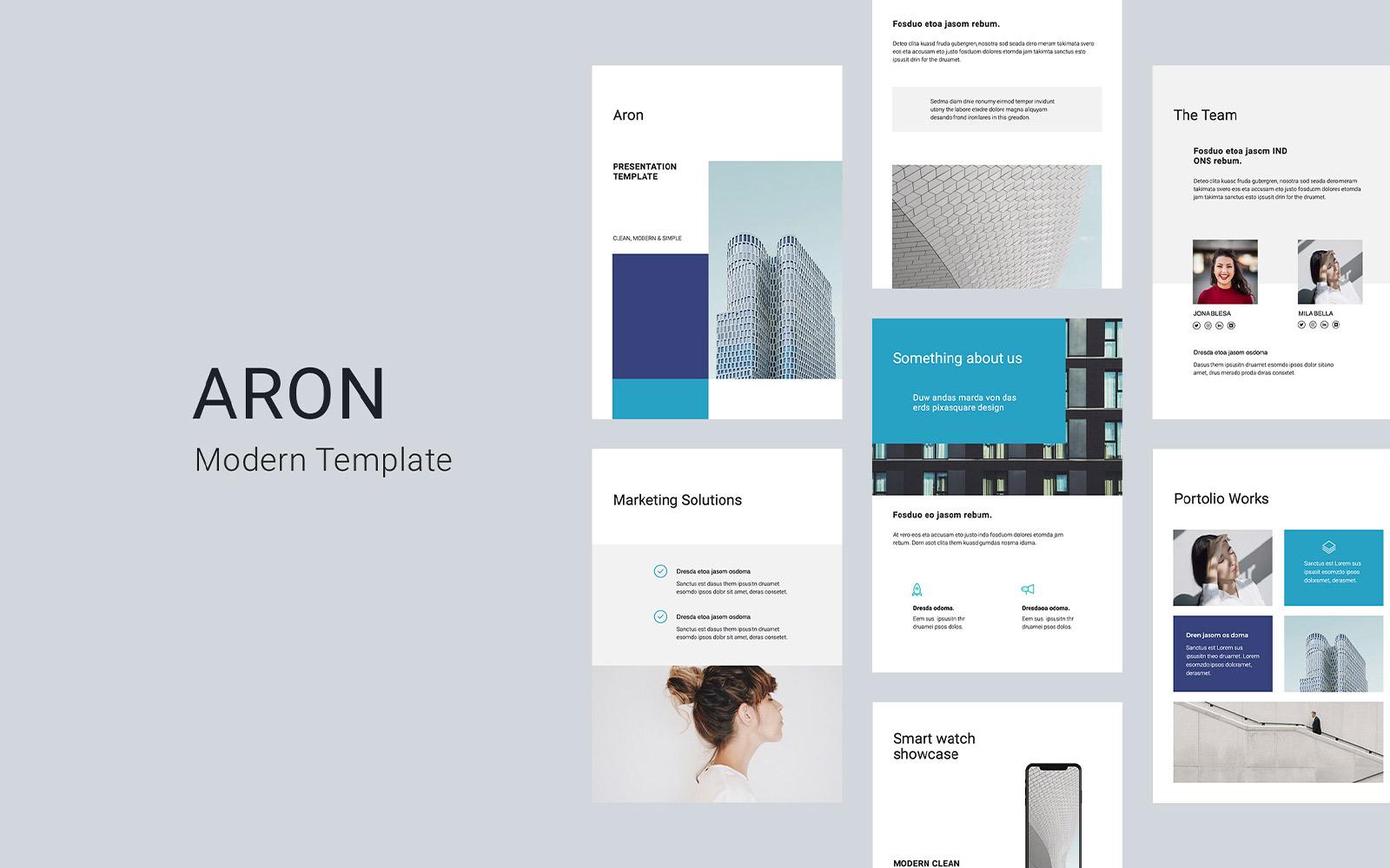 ARON - A4 Vertical PowerPoint Template