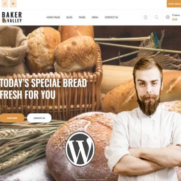 Template Cafenele și restaurante WordPress #112680