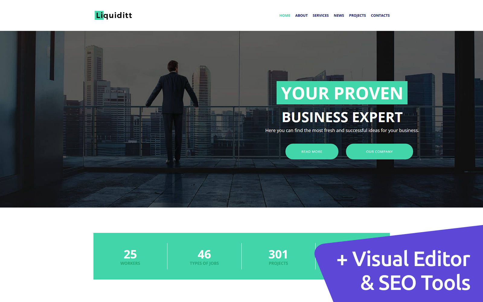 Liquiditt - Business Consulting Moto CMS 3 Template