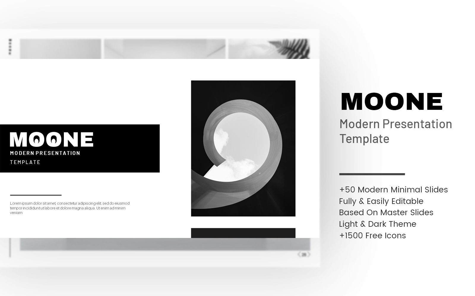 MOONE - Minimal PowerPoint Template