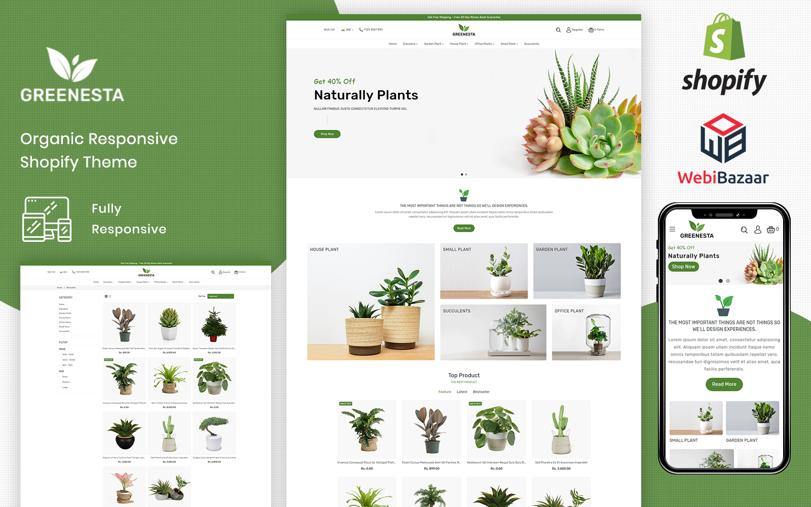 Greenesta Organic - Food & Grocery Store Shopify Theme