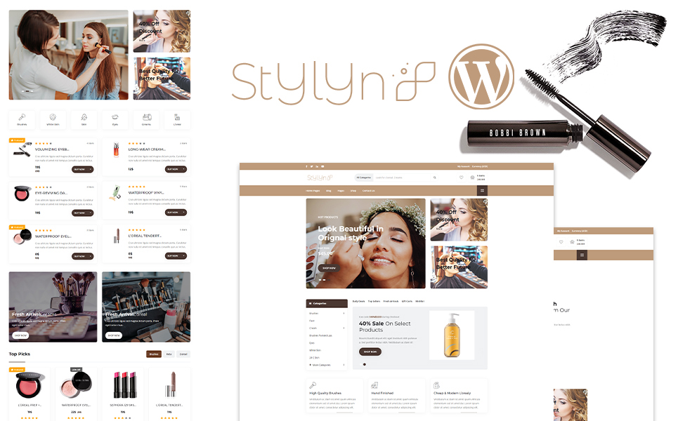 Stylyn - Cosmetic And Beauty Shop WordPress Theme