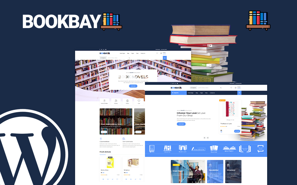 Bookbay - Book Shop WordPress Theme