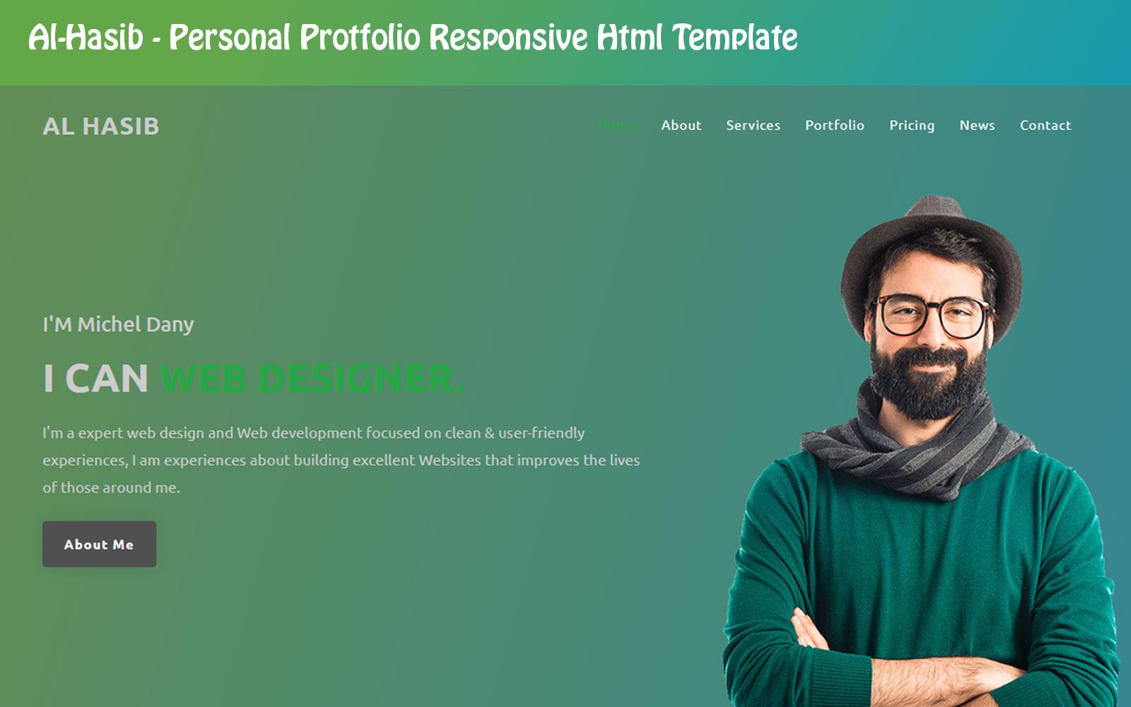 Al-Hasib - Personal Portfolio Html Landing Page Template