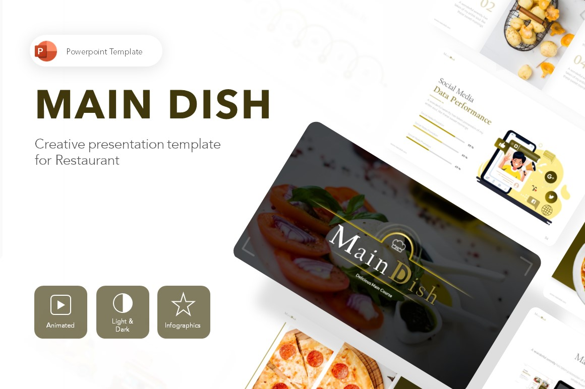 Main Dish Restaurant Presentation PowerPoint Template