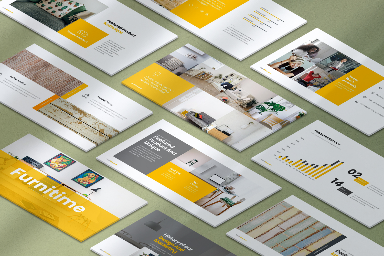 Furnitime Presentation PowerPoint Template