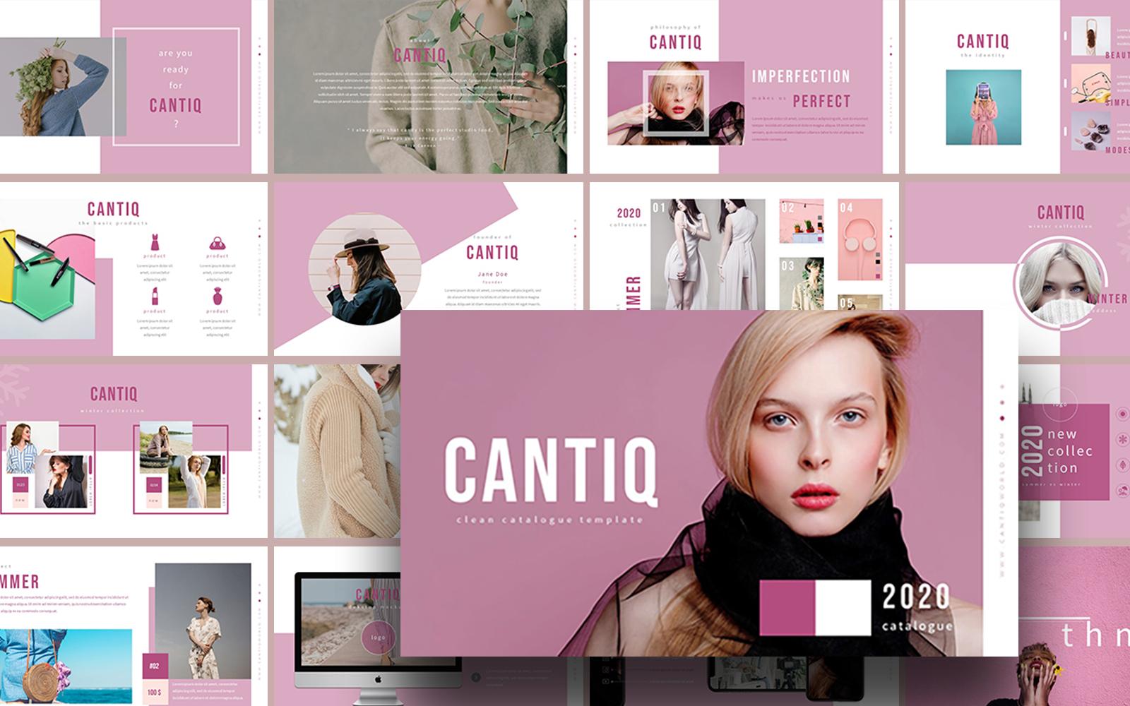 Cantiq Modern Catalogue PowerPoint Template