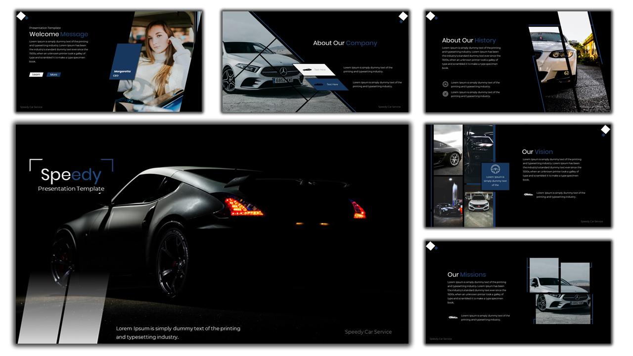 Speedy Car Services PowerPoint Template