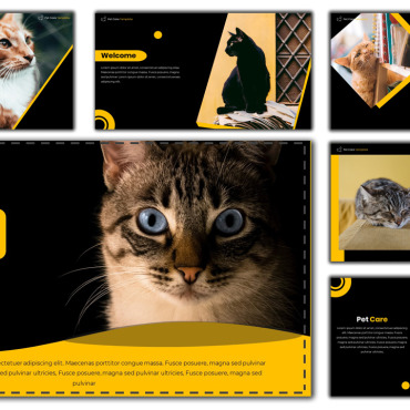 Template Animale de companie PowerPoint #114012