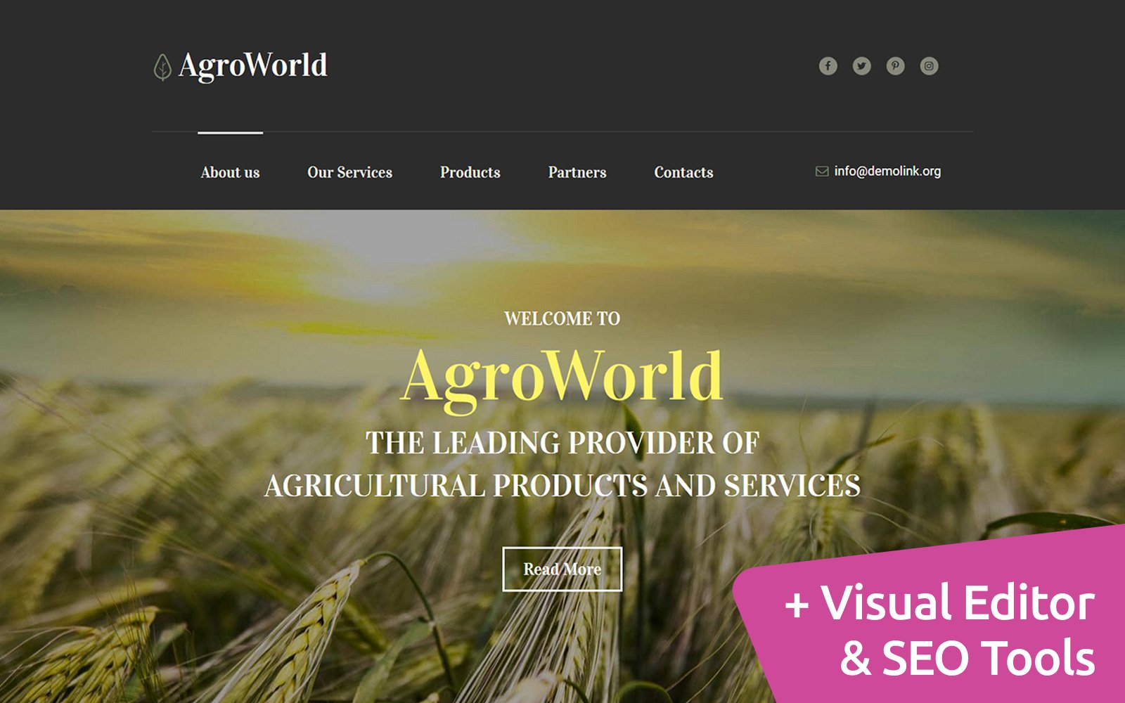 ArgoWorld - Agriculture Moto CMS 3 Template